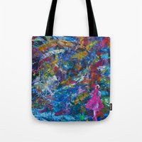 rocket Tote Bags featuring Rocket by kaybattle
