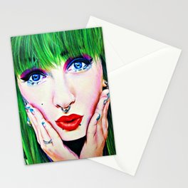 Set on fire Stationery Cards