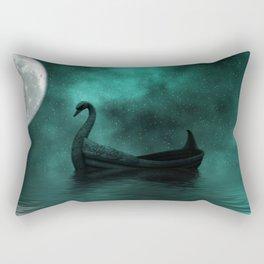 Solar Swan Rectangular Pillow