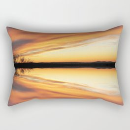 Reflecting Sunset - 9 Rectangular Pillow
