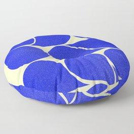 Blue mid-century shapes no8 Floor Pillow