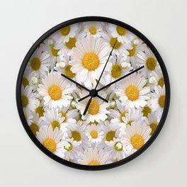WHITE SHASTA DAISES GARDEN Wall Clock