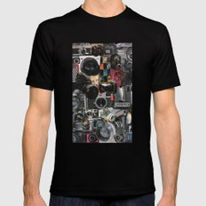 COLLAGE LOVE: How Do You See the World? Mens Fitted Tee Black MEDIUM