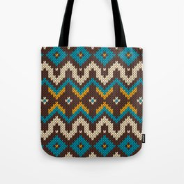 Modern knitted fair isle ethnic style Tote Bag