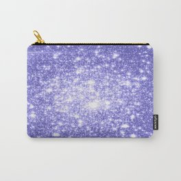 Lavender Periwinkle Sparkle Stars Carry-All Pouch