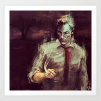 true detective Art Prints featuring True Detective by nlmda