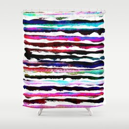 colorful brush strokes design Shower Curtain
