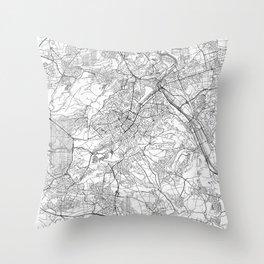 Stuttgart Map Line Throw Pillow