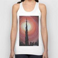 wiz khalifa Tank Tops featuring Burj Khalifa by sladja