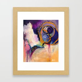 Lace & Spiral Framed Art Print