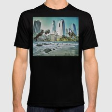 Surf City L.A. Mens Fitted Tee MEDIUM Black