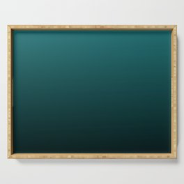 Gradient Collection - Deep Teal Turquoise - Accent Color Decor - Lowest Price On Site Serving Tray