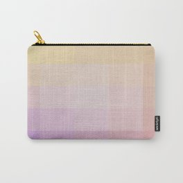 Pixel Gradient between Soft Yellow and Grayish Red Carry-All Pouch