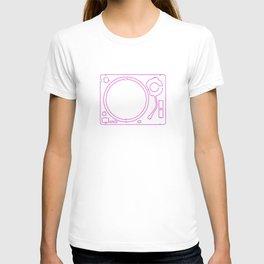 Neon Turntable 2 - 3D Art T-shirt