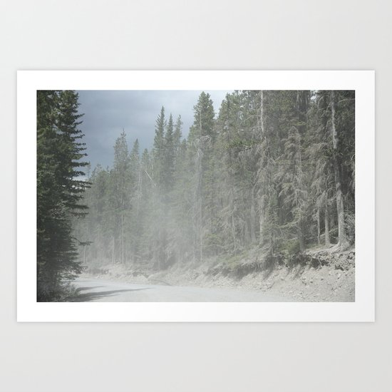 Forest in Calgary Art Print