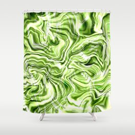Green marble texture Shower Curtain