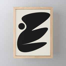 Black and White Abstract Shapes #15 Framed Mini Art Print