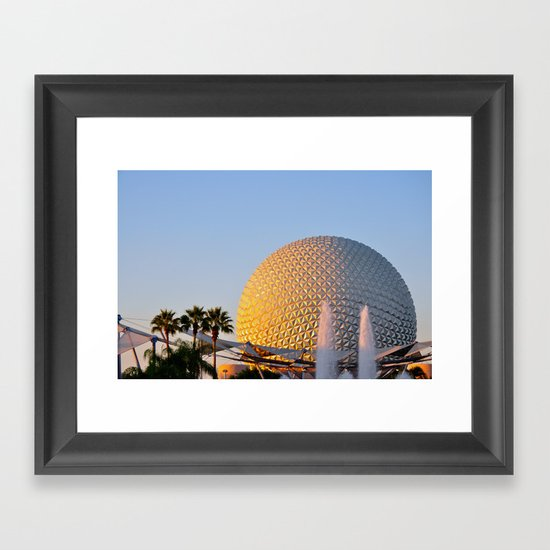 Epcot Ball Framed Art Print