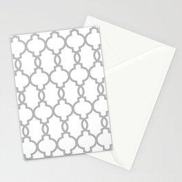 Hollywood Regency Trellis Pattern 522 gray Stationery Cards