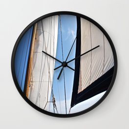Raising the Jib II Wall Clock