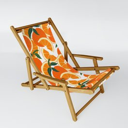 Orange Harvest - White Sling Chair