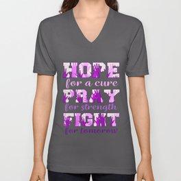 hope pray fight lupus Unisex V-Neck
