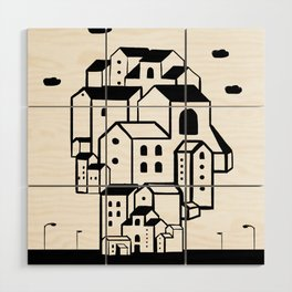 where is your home? Wood Wall Art