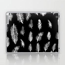 Feather Pattern Gothic Witch Pattern Black & White Laptop & iPad Skin