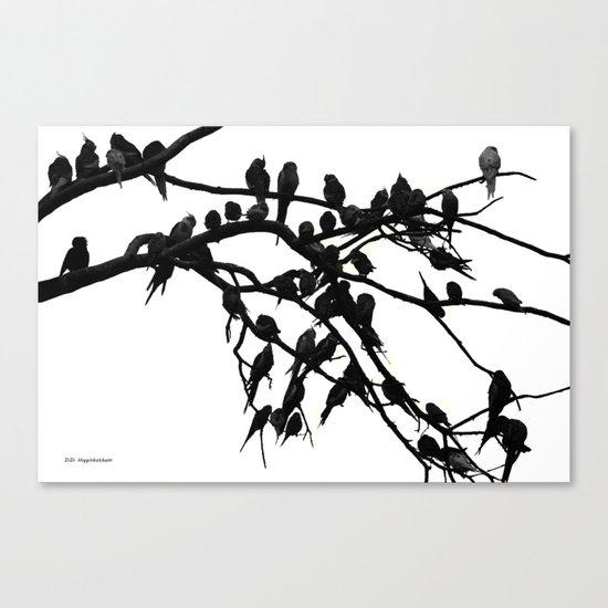 Noisy Silouettes Canvas Print