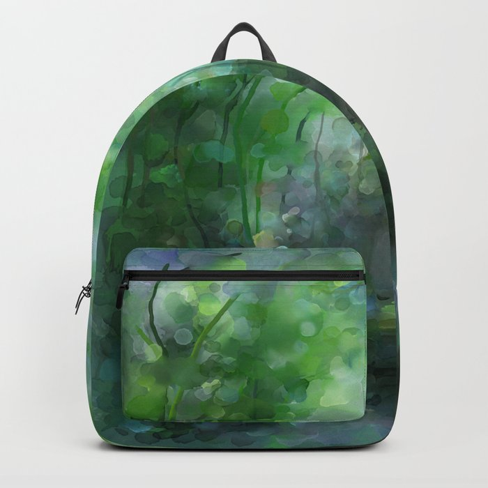 Watercolor forest Backpack