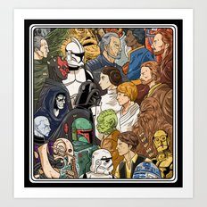 Light Side vs. Dark Side Art Print