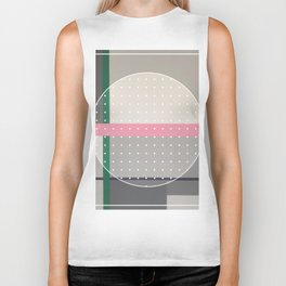 Green Line - dot circle graphic Biker Tank