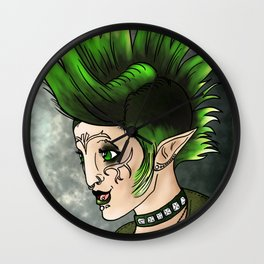 Elf. Punk. Merrill Wall Clock