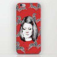 tenenbaum iPhone & iPod Skins featuring Margot Tenenbaum by Ester Dus