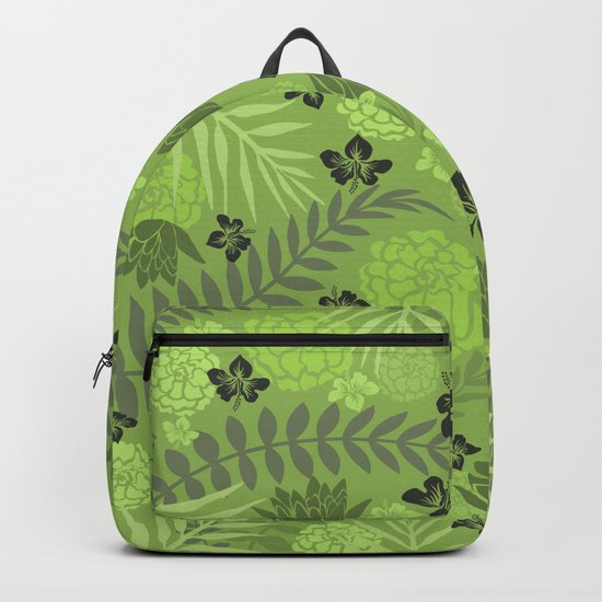 Greenery Floral Backpack