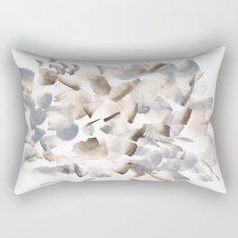 180630 Grey Black Brown Neutral Abstract Watercolour 9  | Watercolor Brush Strokes Rectangular Pillow