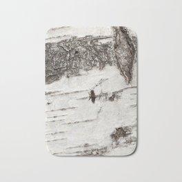white striped birch bark Bath Mat