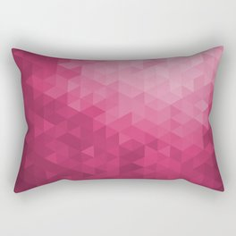 Hot Pink Geometric Pattern Design Rectangular Pillow
