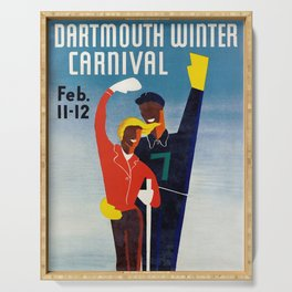 Dartmouth Winter Carnival - Vintage Poster Serving Tray