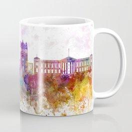 San Salvador skyline in watercolor background Coffee Mug