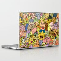 faces Laptop & iPad Skins featuring Faces by Spencer Afonso