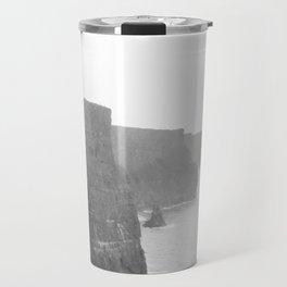 Cliffs of Moher B&W Travel Mug
