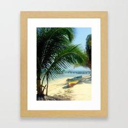 reggae boat Framed Art Print