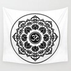 Black and White Mandala | Flower Mandhala Wall Tapestry