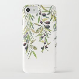 Olive Branch Watercolor  iPhone Case