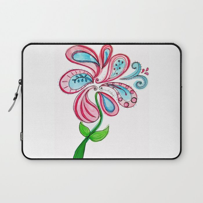 Swirl Flower Laptop Sleeve