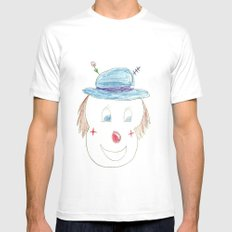 Childhood Drawings (clown) MEDIUM White Mens Fitted Tee