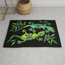 Geckos – Green Palette Rug