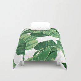 Tropical banana leaves IV Duvet Cover
