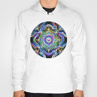 psychedelic art Hoodies featuring Mandala Psychedelic Art Design by BluedarkArt